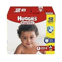 Huggies Snug & Dry diapers, 204 count Step 3 Econo Plus