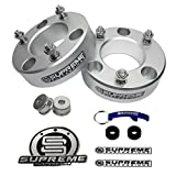 """Supreme Suspensions - F150 Lift Kit 3.5"""" Front Suspension Lift CNC Machined T6 Aircraft Billet Strut Spacers (Silver) Easy Install Ford F150 Leveling Kit PRO"""