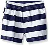Kanu Surf Baby Boys' Troy Swim Trunk, Navy/White, 12 Months