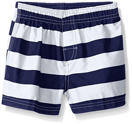 Kanu Surf Boys' Troy Quick Dry Beach Swim Trunks, Navy/White, 12 Months