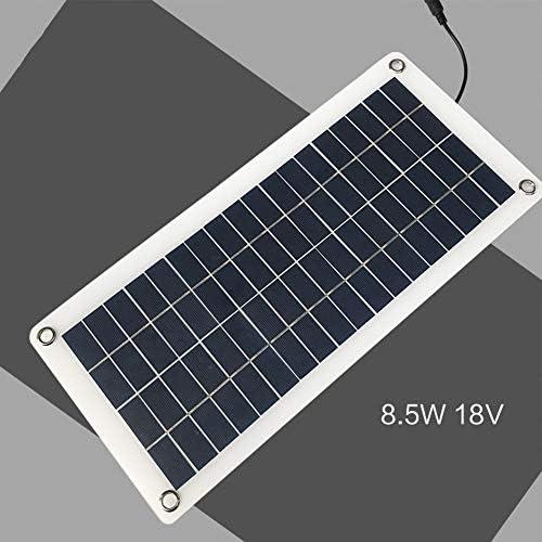 ZHENAI 8,5 W 18V halbflexibles Solarpanel, polykristallines Photovoltaikmodul Solarladegerät mit Krokodilklemmenkabel für Wohnmobil, Wohnwagen, Wohnmobil, Boot, Camping, Wandern (12v-1)