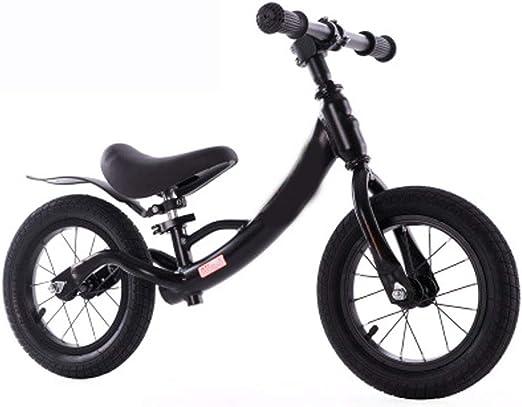 Bicicleta De Equilibrio De Los Niños, De Aleación De Aluminio Slip Bicicleta De Equilibrio De Los Niños En Bicicleta Sin Pedales 3-6 Años De Edad Del Niño Diapositivas Bicicleta De Equilibrio,Negro: Amazon.es: