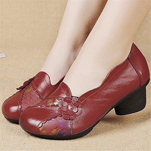 Retro scarpe Mid Original Handmade Handmade Original Head Outdoor scarpe Vintage Flats   3d77cb