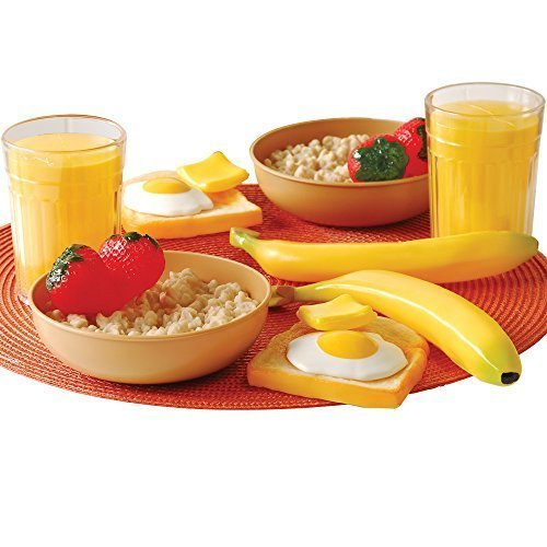Cp Toys 16 Pc. Pretend Play Healthy Breakfast Plastic Food Set for Two