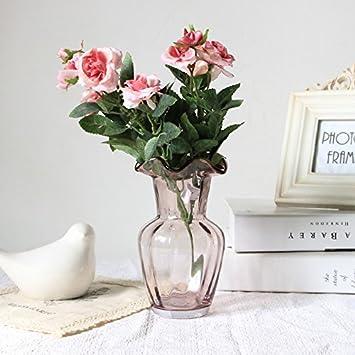 maivas vase kreative moderne, einfache glas transparent wohnzimmer ... - Wohnzimmer Rot Gold