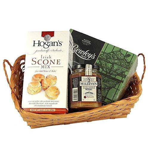 Irish Breakfast Tea Gift Basket with Irish Breakfast Tea, Irish Scone Mix and Irish Honey - tidiness by 1 PM Ships same day