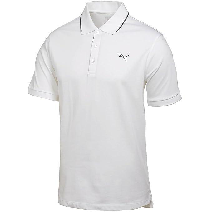 Puma - Polo - para hombre Blanco blanco XL: Amazon.es: Ropa y ...