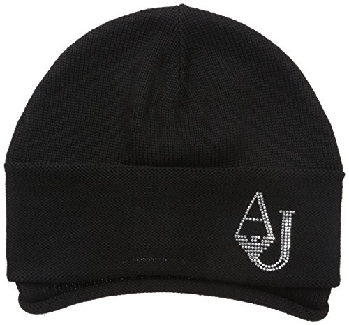Armani Jeans Women's Aj Logo Knit Beanie, Black, One Size by ARMANI JEANS