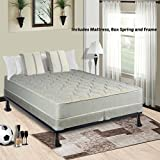 9-inch Fully Assembled Orthopedic Mattress and Split Semi Flex Box Spring with Frame