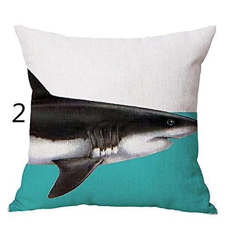 ASAP CHIC Fashion - Funda de Cojín para el hogar, Diseño de Tiburón de Animales, Diseño de Elefante