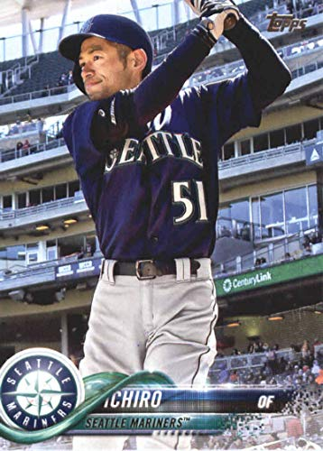 2018 Topps Update and Highlights Baseball Series #US100 Ichiro Seattle Mariners Official MLB Trading Card