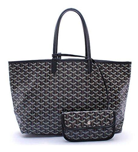 elqua-lady-tote-shoulder-bag-with-matching-wallet-black