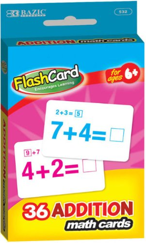 Bazic Addition Flash Card 72 pcs sku# 311523MA by Bazic