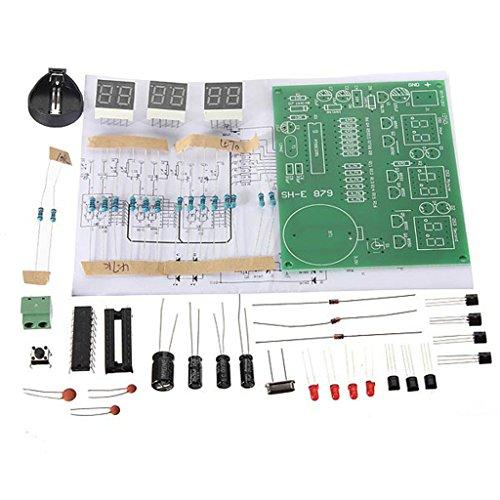 DIY kit módulo 9V-12V AT89C2051 6 Digital LED reloj electrónico componentes de piezas: Amazon.es: Electrónica
