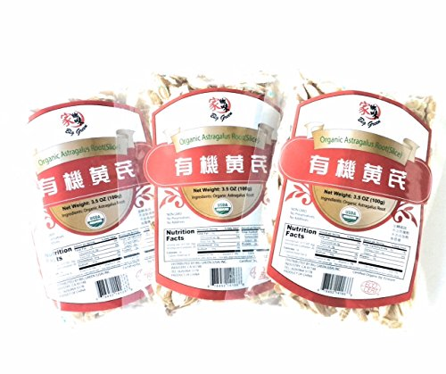 Organic Astragalus Root Slice 3 Pack Traditional Chinese Herb Milkvetch Non (Astragalus Root Slices)