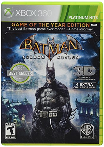 Arkham 360 Asylum Xbox (Batman: Arkham Asylum [Game of the Year Edition] (Platinum Hits))