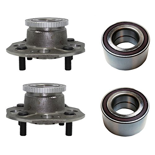 (Detroit Axle - Front Wheel Bearing and Rear Hub Assembly Set for 1998 1999 2000 2001 2002 Honda Accord 2.3L Engine w/ 4-wheel Disc Brakes)