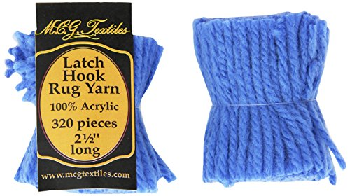 M C G Textiles (MCGTD) Latch Hook Rug Yarn -Blue