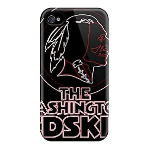 Perfect Hard Phone Cover For Iphone 4/4s With Allow Personal Design High Resolution Washington Redskins Series AlissaDubois