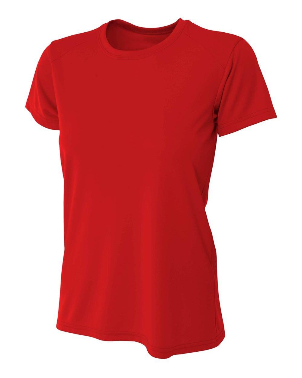 a4冷却Moisture Wickingパフォーマンスインターロックシャツ B004QRZSXW XL|X-large,scarlet Red X-large,scarlet Red XL