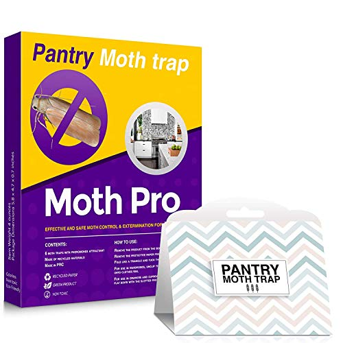 MothPro Powerful Pantry Moth Traps - Natural Pheromone Attractant Odor-Free Pantry Moth Traps - Fast Result Guaranteed Anti-Moth Traps
