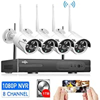 [Expandable 8CH] Wireless Security Camera System...