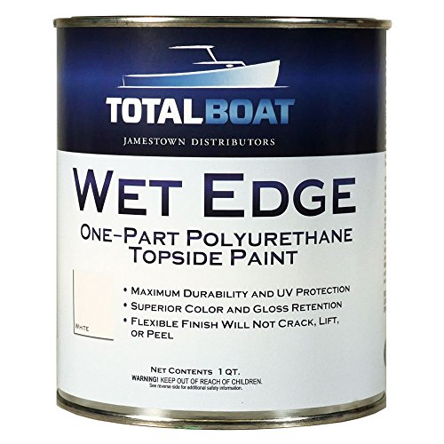 TotalBoat Wet Edge Topside Paint (White, Quart)