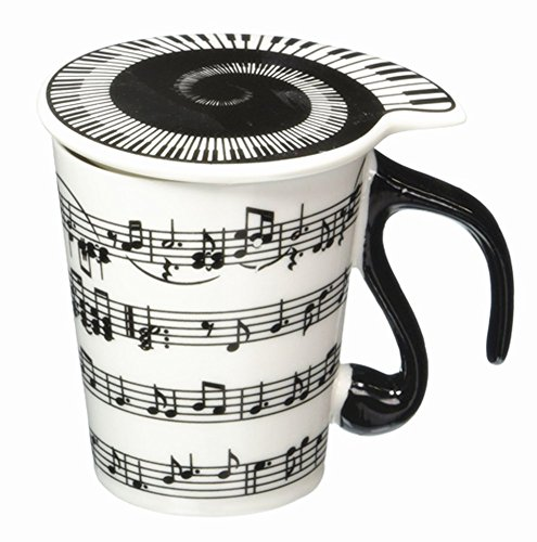 Moyishi Musical Notes Holds Piano Song Coffee Milk Ceramic Mug Cup Best...