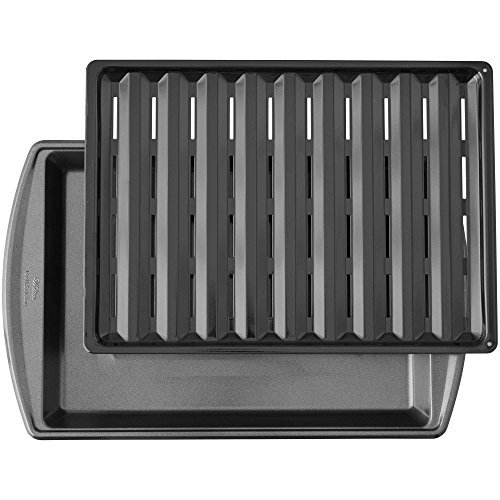 Wilton 17-Inch Nonstick Broiler Pan in Gunmetal (Best Non Stick Broiler Pan)