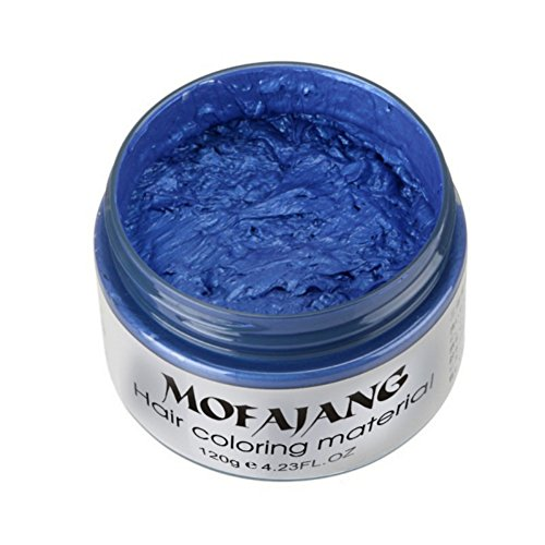 Sunsent 7 Colors Hair Care Hair Wax Matte Hairstyle Pomades (Blue)