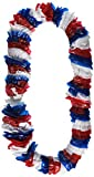 Amscan 4th July Patriotic Theme Plastic Leis Accessory Wearable Party Supplies (12 Piece), Red/White/Blue, 36''