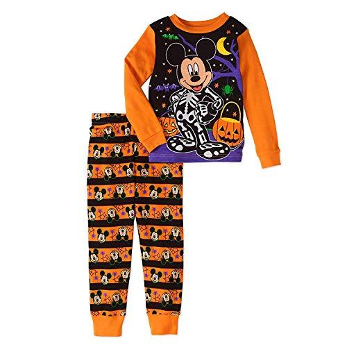 Disney Mickey Mouse Little Boys Toddler Halloween Pajama Set,Multicolor,4T
