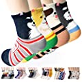 Womens Casual Socks - Cute Crazy Lovely Anial Cats Dogs Design Goods ofr Gift One Size fits All