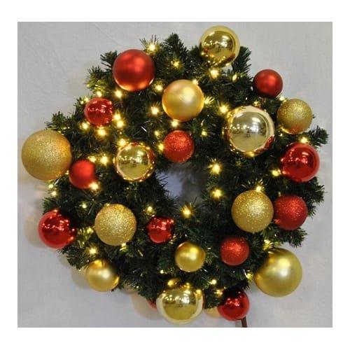 Christmas at Winterland WL-GWSQ-06-RG-LWW 6 Foot Pre-Lit Warm White Sequoia Wrea, Warm White -