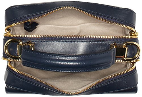 Tommy Hilfiger Leather Twist Mini Trunk, Sac Femme, Bleu (Midnight), 3x6x8 cm