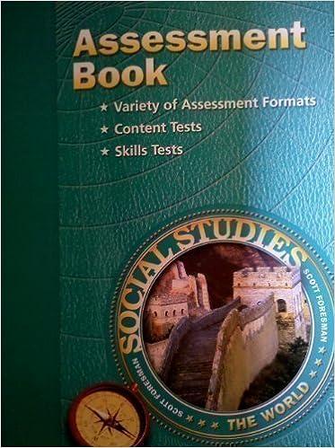 Assessment Book THE WORLD Gr6 Scott Foresman Social Studies