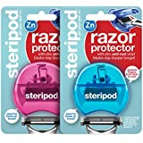 Steripod Clip-On Razor Protector (2-Pack Blue & Pink)