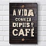 Placa Decorativa em MDF com 20x30cm - Modelo P497 - Frase - Café