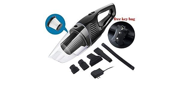 nianpu aspirador inalámbrico auto – Aspiradora de coche con llave Dinero Funda, trinkbarerhandgehaltener Auto de aspiradora con stärkerem absorción – DC 12 V 120 W doble filtro HEPA con bolsa: Amazon.es: Hogar