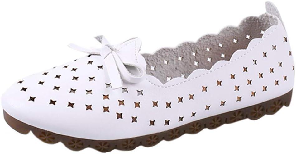 AG&T Calado Plana Zapatos Agujero de la Manera de Las Mujeres Mocasines Casuales Zapatillas de Deporte de los Zapatos Perezosos de un Pedal: Amazon.es: Deportes y aire libre