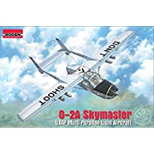 """PLASTIC MODEL BUILDING KIT AIRCRAFT CESSNA O-2A """" SKYMASTER """" 1/32 RODEN 620 Airplane miniatures Plastic model building airplane"""