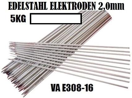 Sudor electrodos VA E308 Varilla 2,0 mm 5 kg de acero ...
