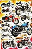 Moto Bike autocollants 12pièces 1feuilles 270mm x 180mm Stickers bricolage enfants PARTY