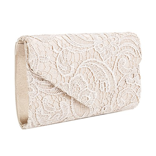 Bag Handbag with Women Evening Bridal Clutch Lace for Date Party Women Bag Bag Ladies Envelope champage Wedding Chain n171Ppwt