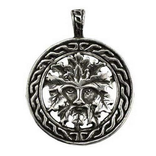 Anya Nana Green Man & Celtic Knots Amulet Nature's Rebirth 1.25