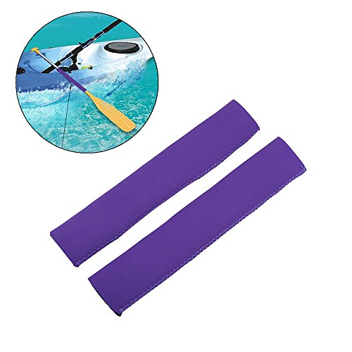 Kayak Paddle Grips - Non-Slip Soft Canoe Paddling Grips Protective Diving Fabric Paddling Grips for Efficient Paddling (Purple) - Cushion Paddle