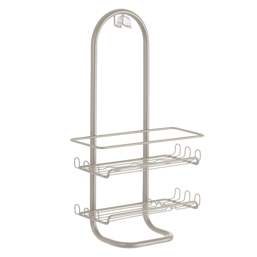 InterDesign Classico Jumbo Bathroom Caddy – Shower Storage Shelves for Shampoo, Conditioner and Soap, Satin