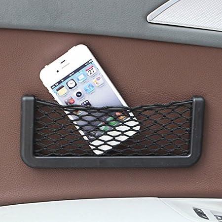 Juntu Cargo Net Storage Useful Car Seat Side Back Storage Pocket Net Bag Phone Holder Pocket Organizer 3 x 6 car net pocket