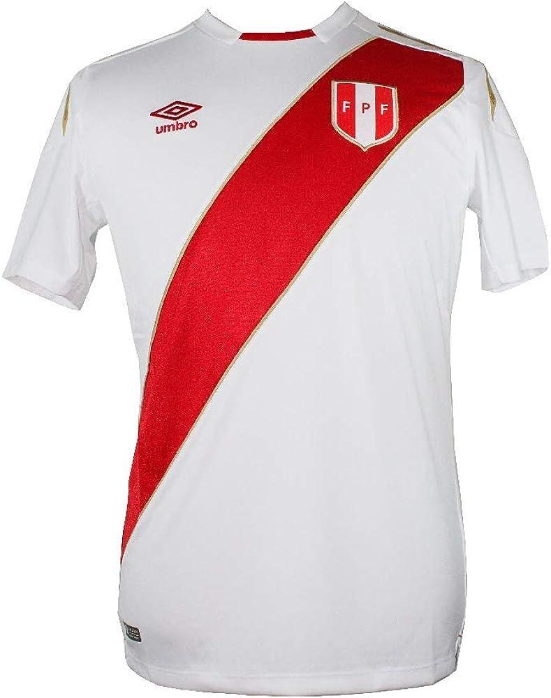 Umbro Peru Jersey 2018 Home BLANQUIRROJA Soccer Jersey Camiseta Futbol Football Shirt