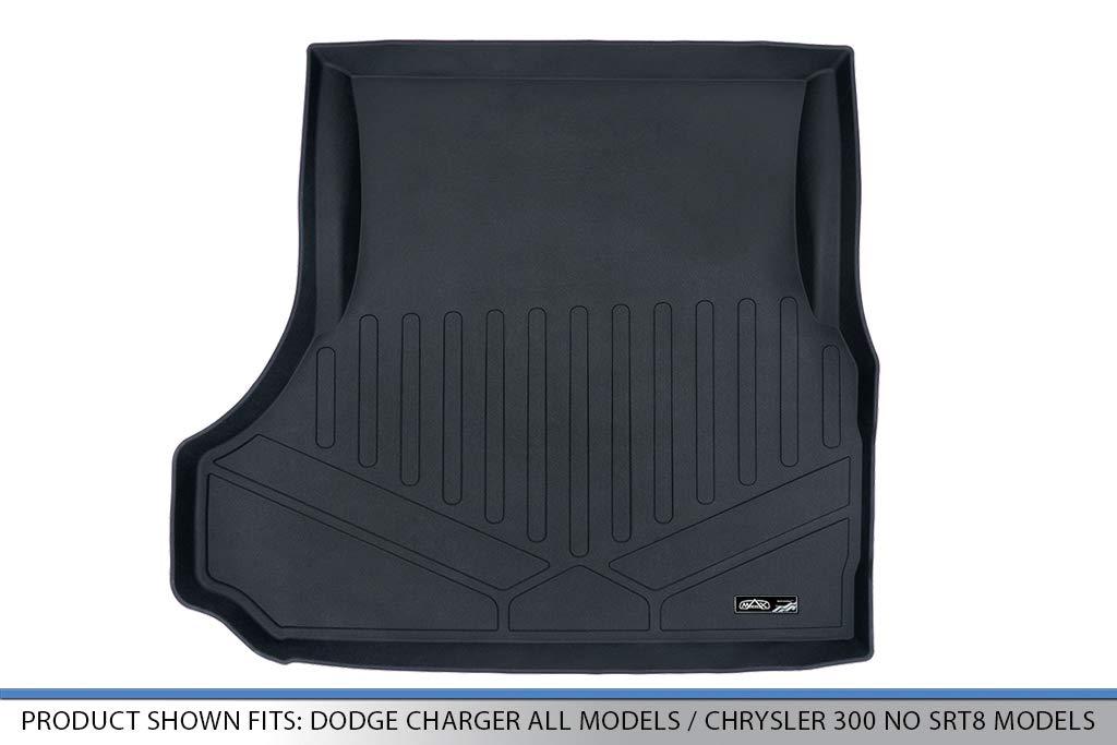 MAXLINER Cargo Liner Trunk Floor Mat Black for 2006-2019 Dodge Charger All Models 2005-2019 Chrysler 300 No SRT8 Models
